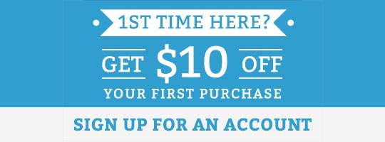 Get $10 off your first purchase!