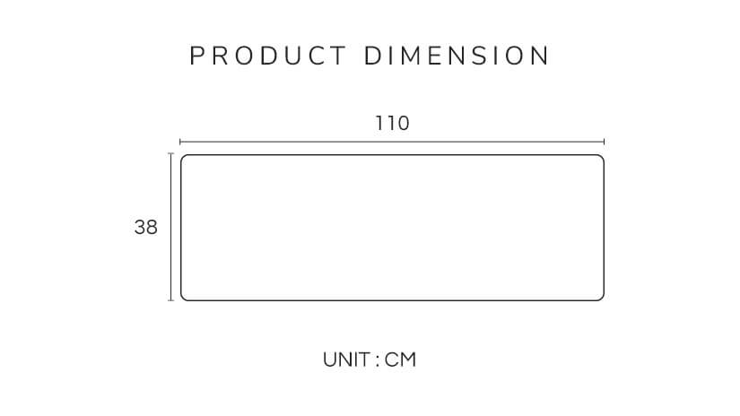 The dimensions of the Nuloft Dreamer bolster case. Fits standard sized bolsters.