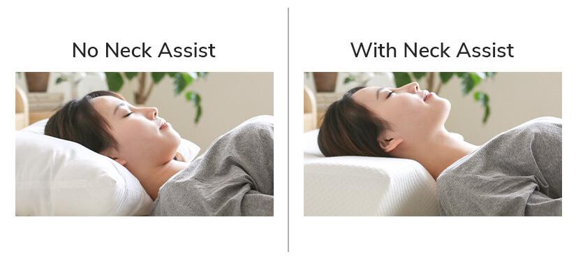 Neck assist comparison.