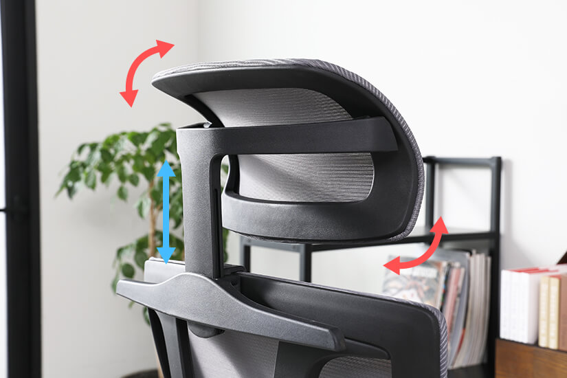 Adjustable headrest. Move up or down with ease according to your height. Tilt at different angles for optimum comfort.
