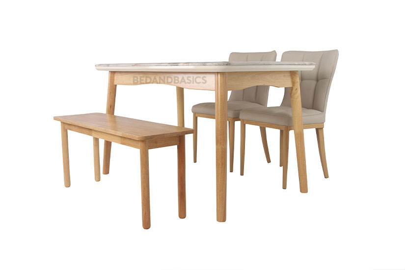 Complete your dining table set with this bench.