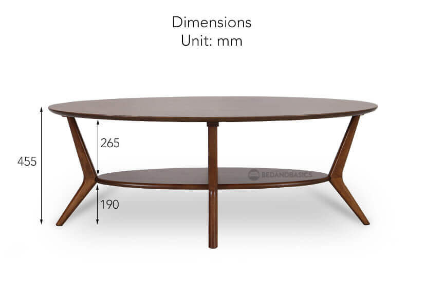 Kallan Coffee Table Height Dimension