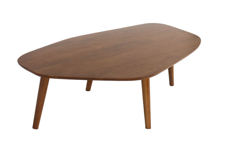 Made of Solid Hevea wood, the coffee table's wood colored tones are easy to match.