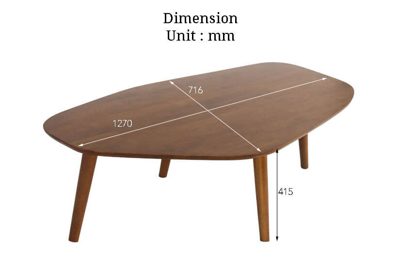 The Dimensions of the Klover Coffee table. Buy online the finest collection of living room furniture in SG.
