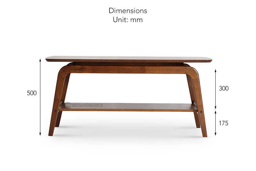 Onix coffee table height dimensions