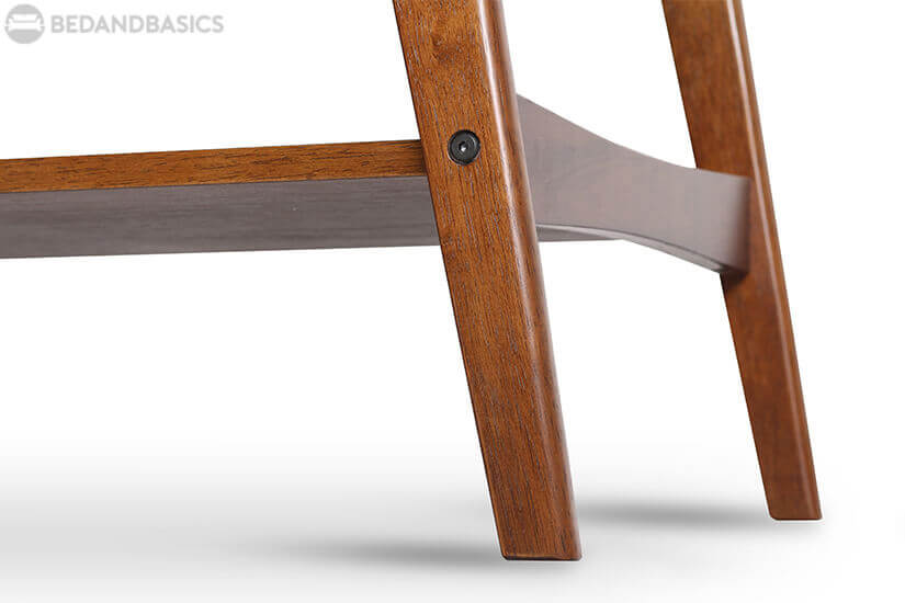 Solid wood legs with round edges.
