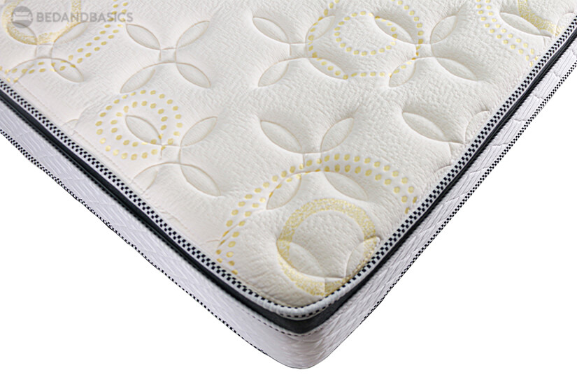 Intricate details and quilting on the mattress boasts the craftmanship and quality of the Sleepy Night Century Orthopaedic Spring Mattress.