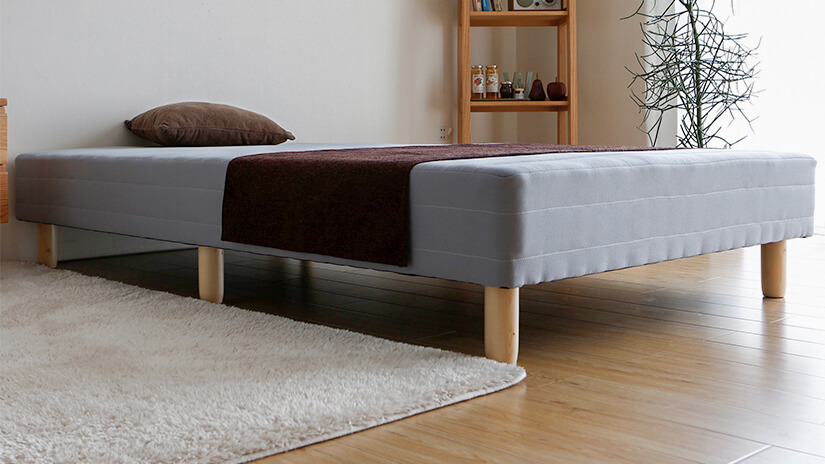Bed frame base has solid wooden legs to ensure the bed frame is stable and safe.