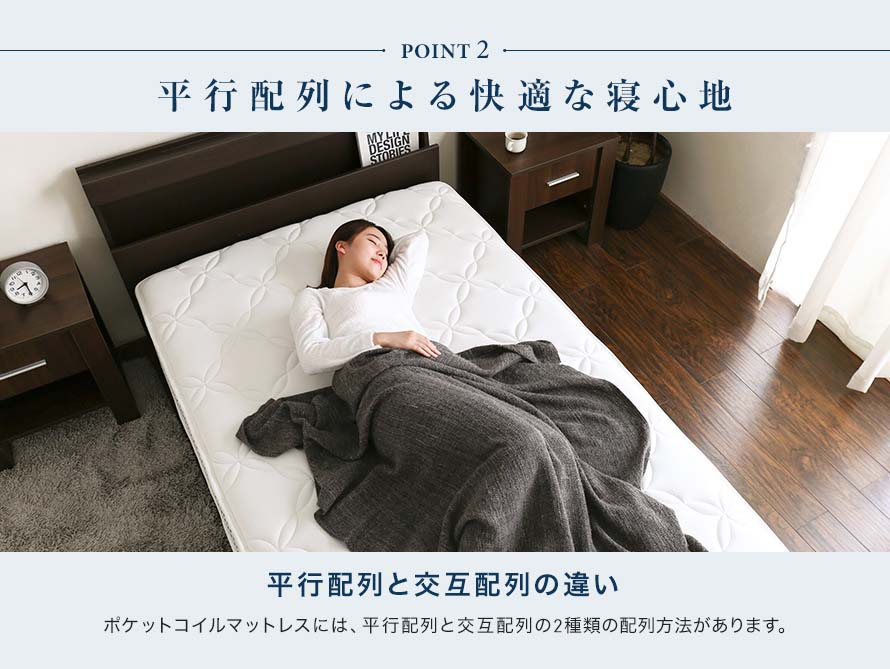 Better sleep with parallel pocket coils