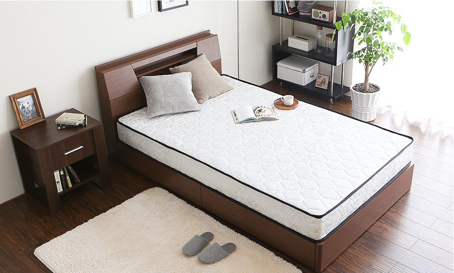 The Modern Deco Pocket Coil Mattress with bedframe