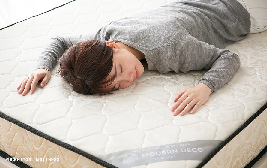 Sleeping on Modern Deco Pocket Coil Mattress
