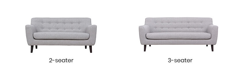 Available in 2 variations: 2-Seater Sofa and 3-Seater Sofa.
