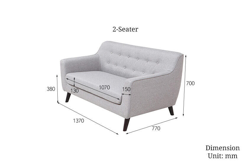 The dimensions of the 2 seater alba sofa. Shop living room furniture online in Singapore (SG) today.