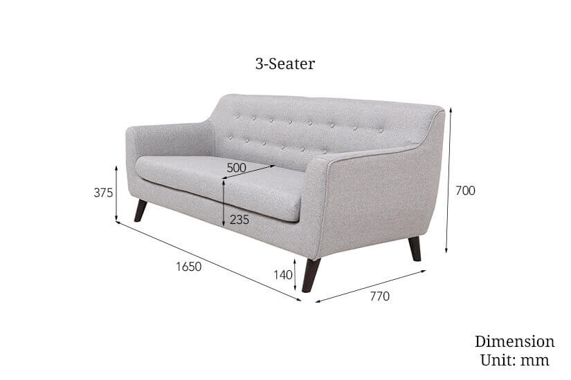 The dimensions of the 3 seater alba sofa. Shop sofas - 3 seaters and 2 seaters online in Singapore (SG) today.