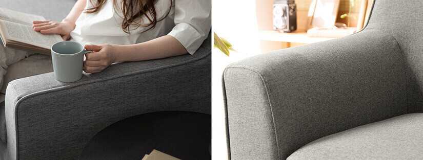 Designed at a height that follows your body's natural posture. Rest your arms comfortably.