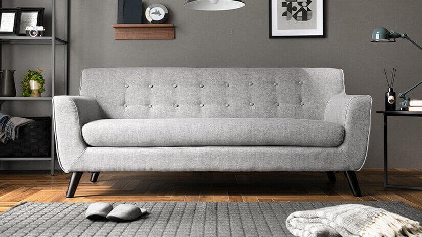 Heather Grey color sofa.
