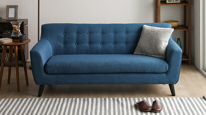 Indigo Blue color sofa