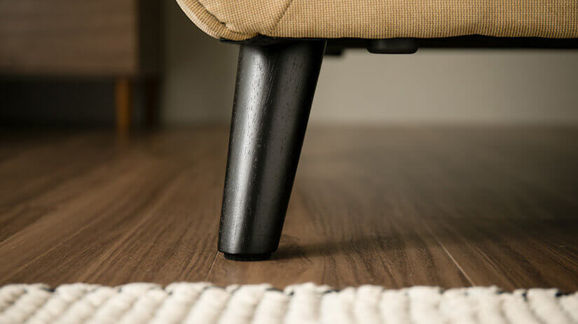 The solid wood legs are highly durable and stable. Looks classy and adds a touch to your Scandinavian design.