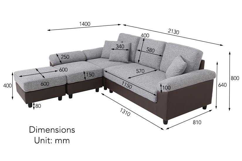 DIMENSIONS 2130mm