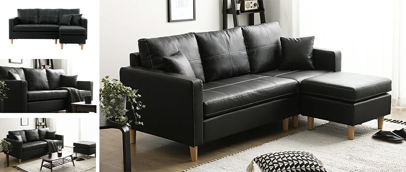 BLACK LEATHER (PVC)