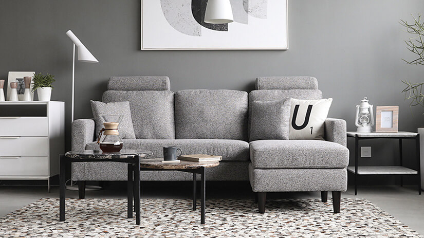 Colon Sofa in Heather Gray Color