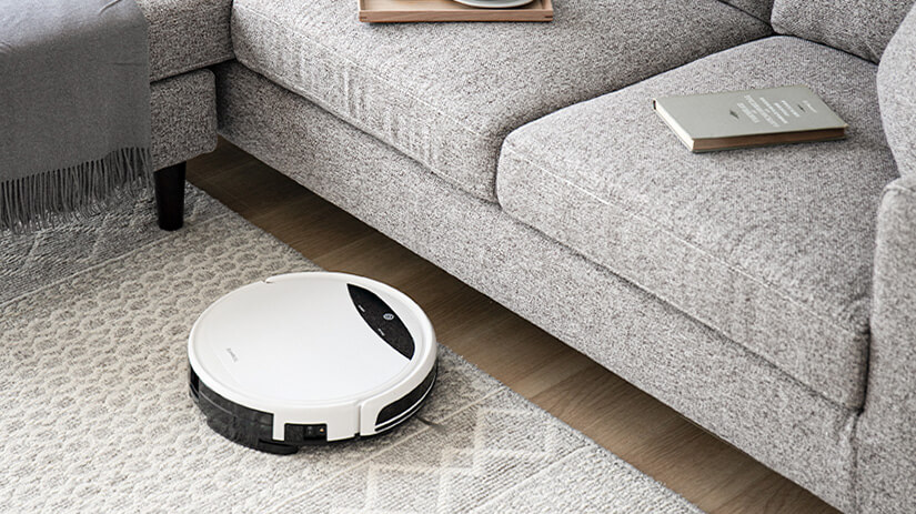 Legs are about 14cm tall. Ample space for easy cleaning. Even for vacuum robot.