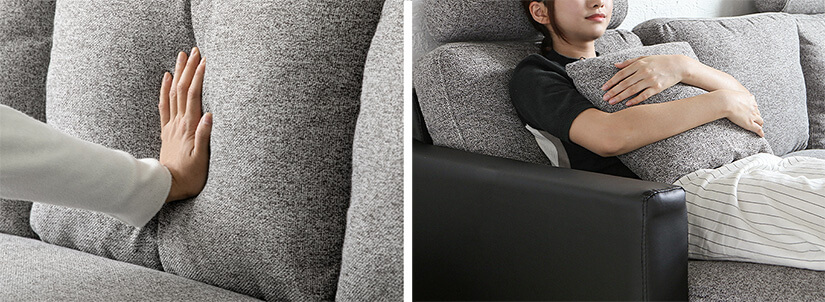 The backrest and cushions distribute your weight evenly to ensure you recline comfortably.