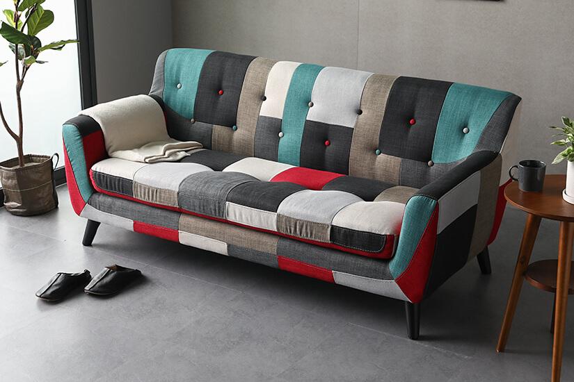 Vibrant and bold. Patchwork design. Stunning statement piece.