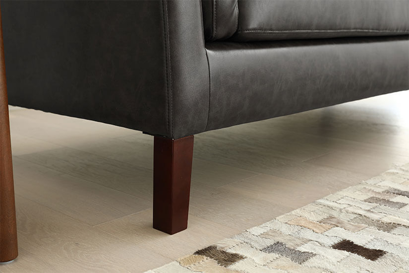 Solid Hevea Wood Legs. Ensure sturdy and strong support.