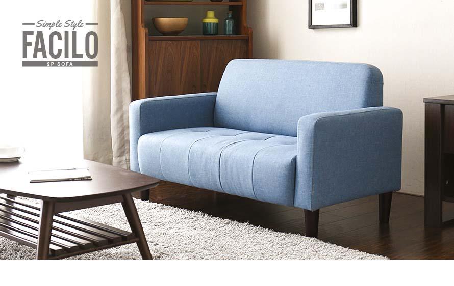 simple design 2 seater sofa