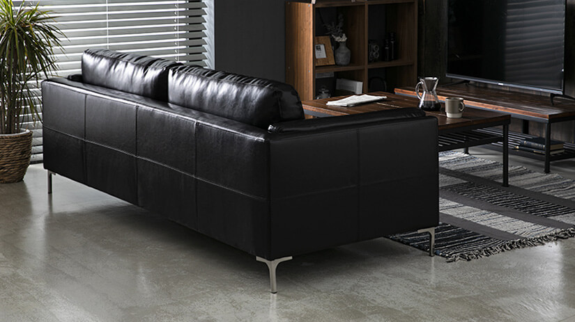 Consistent upholstery throughout. Designed to ensure sofa is presentable in all angles.