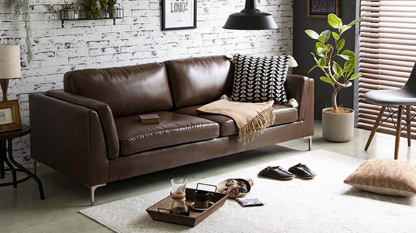 Brown leather is easy too match.