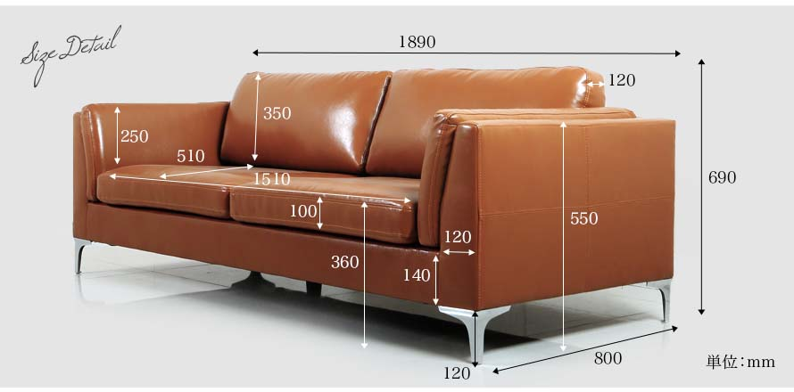 The Forma's sofa dimensions can be found here. Measurements are made in mm.