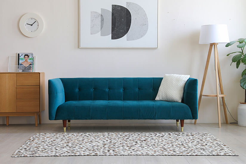 A modern rework of the classic chesterfield sofa design.