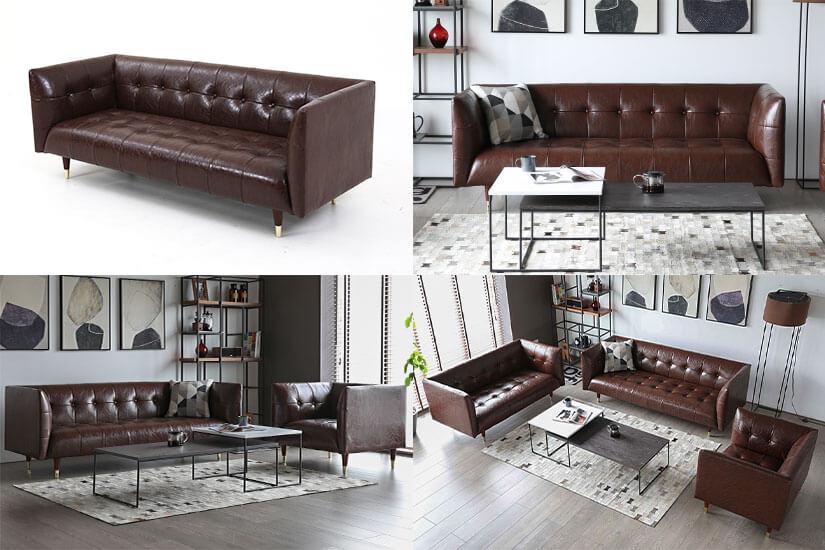 Vintage Brown PU Leather