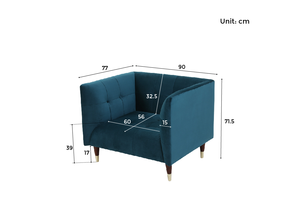 1 Seater Dimensions