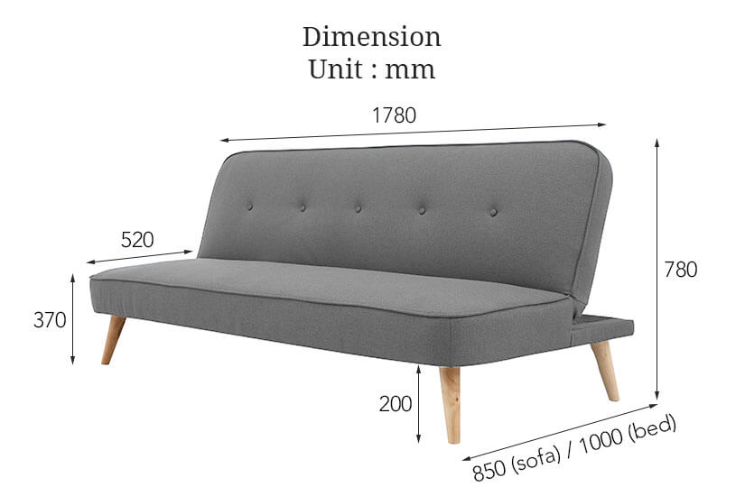 The dimensions of Graden Sofa Bed. Shop high quality living room furniture and sofa beds online in Singapore (SG).