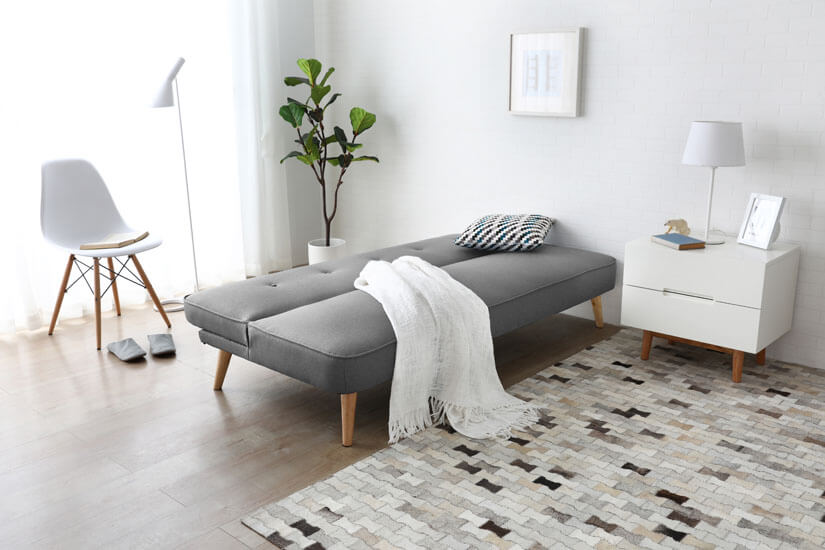 Dual functions. Transform a sofa to a sofa bed. Great for hosting sleepovers