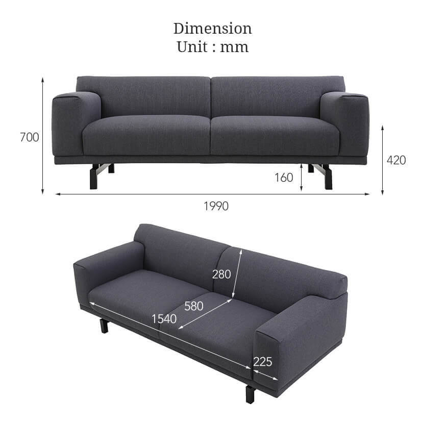 The dimensions of the Henry Sofa exclusive to bedandbasics.sg. Buy living room furniture and sofas online in Singapore (SG) today!