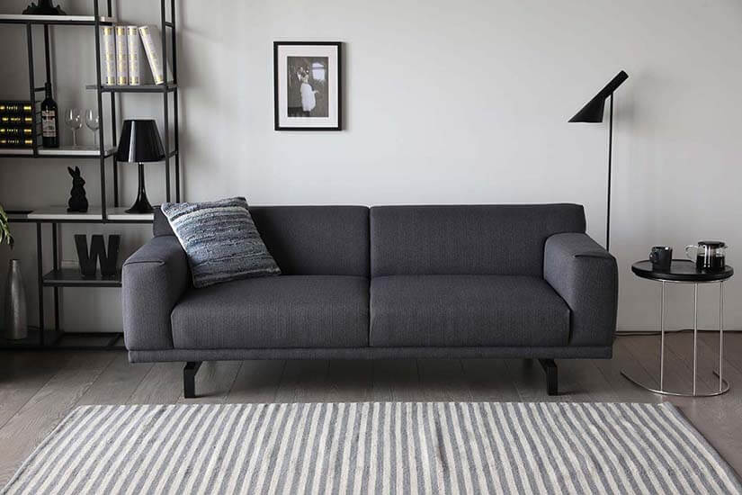 The Henry Sofa looks and feels incredible. It is upholstered in high grade polyester fabric and designed to look fabulous in an industrial or minimalist themed home.