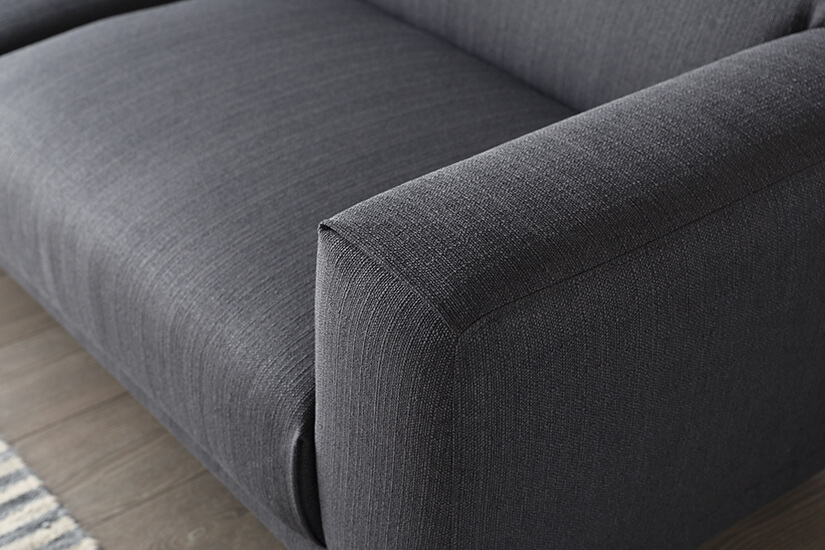 The corners of the Henry sofa uses a clean stitch detail, a mark of excellent workmanship and design.