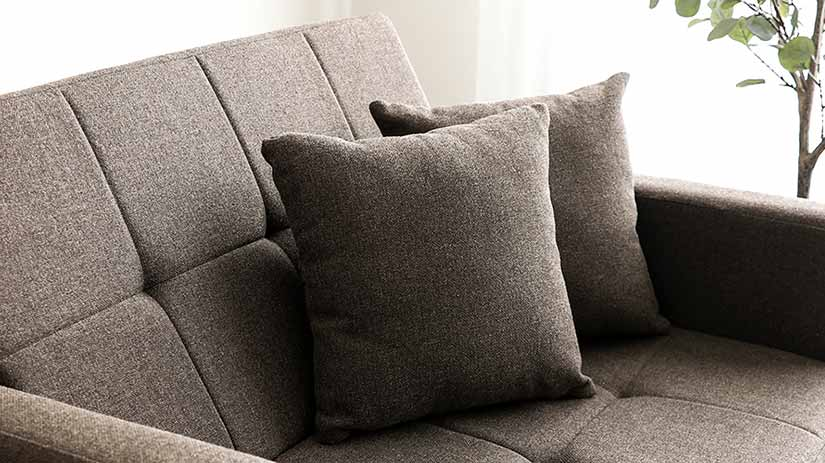 The sofa comes with 2 soft cushions for you to enjoy a cosy sitting experience on the sofa.