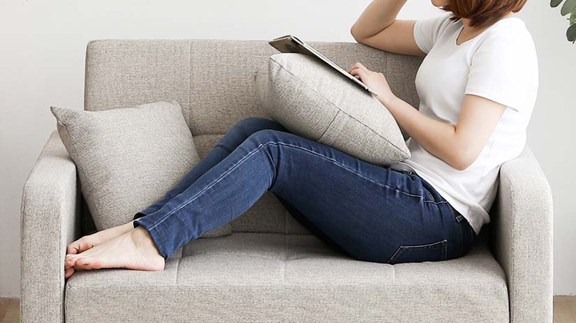 Seat width of 87cm, the sofa is capable of accommodating 2 seaters.