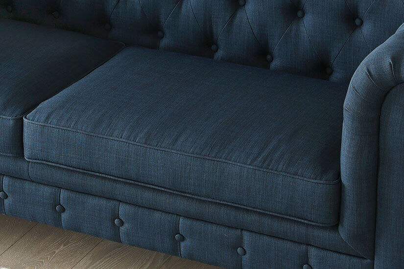 High-density foam cushions. Sit comfortably on this sofa.