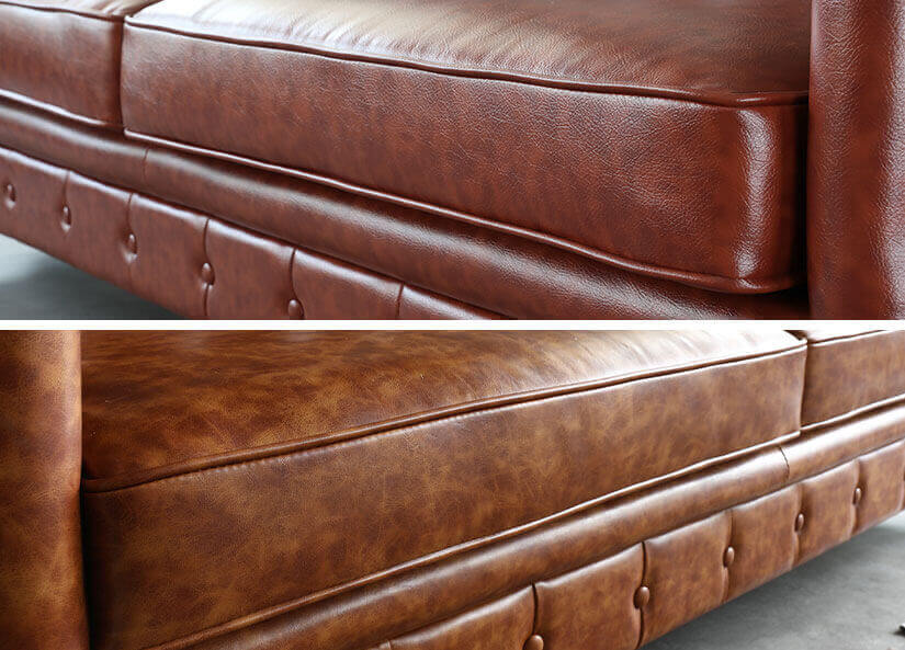 Realistic leather texture. Brown colour shifts for a vintage appearance.