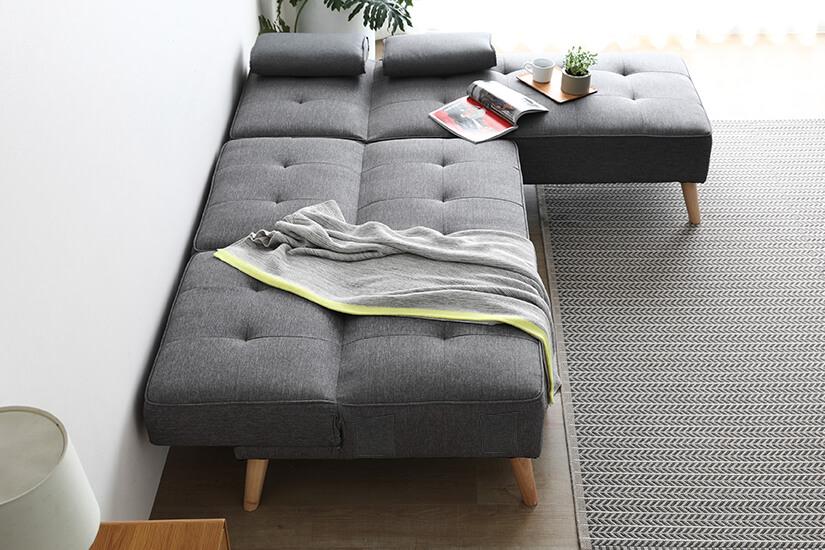 Convert the sofa into a sofa bed easily.