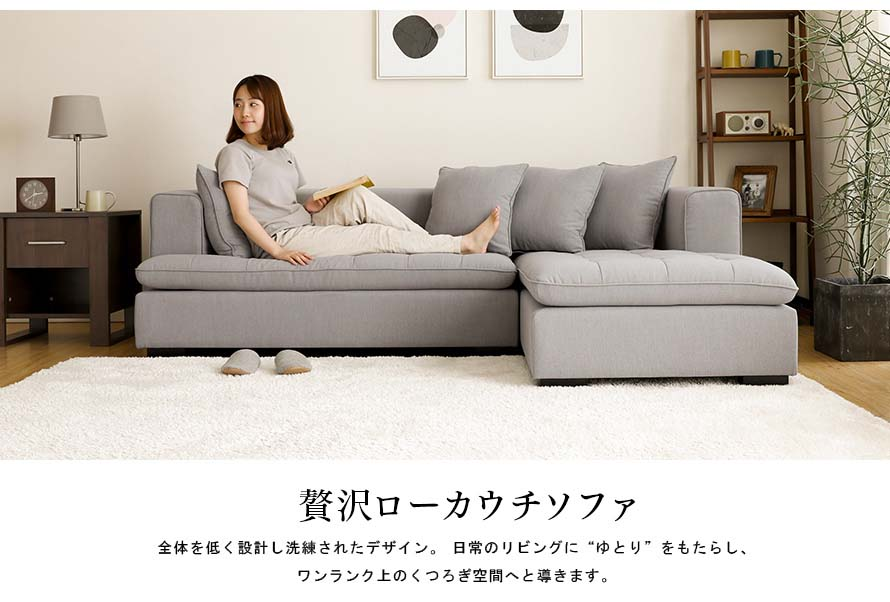 Luxurious low back couch sofa with a sophisticated design for your everyday life.