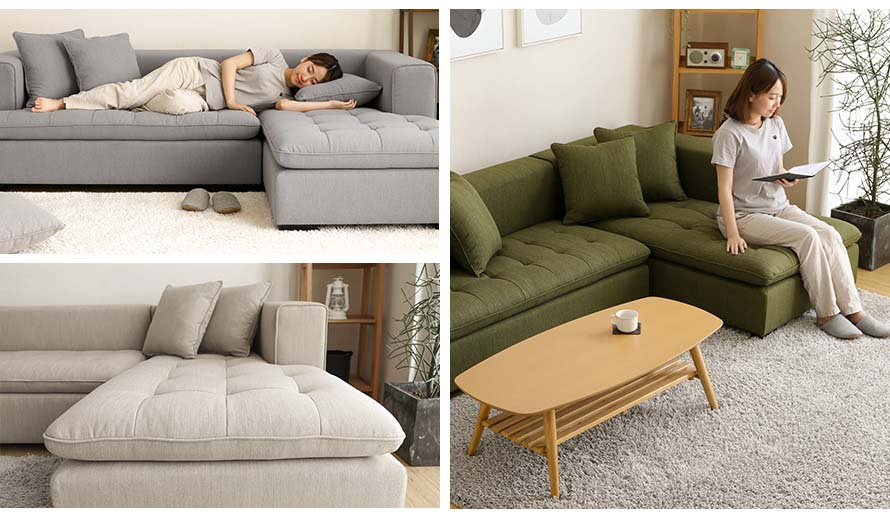 Read and sleep on the LODZ Sofa. The LODZ couch is pleasing to the eyes from the front view.