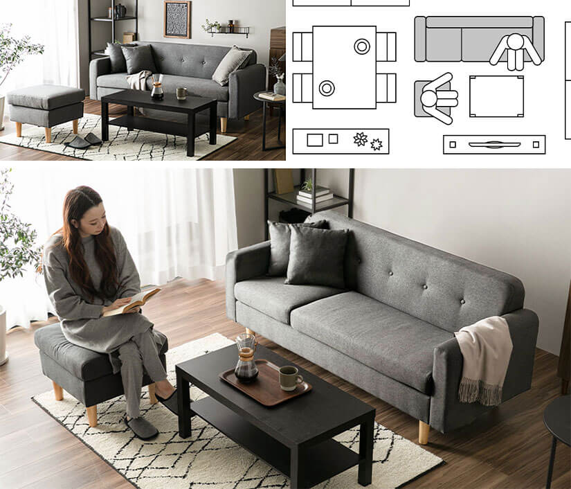 Accommodate additional seater by separating the ottoman. Great for hosting guests.