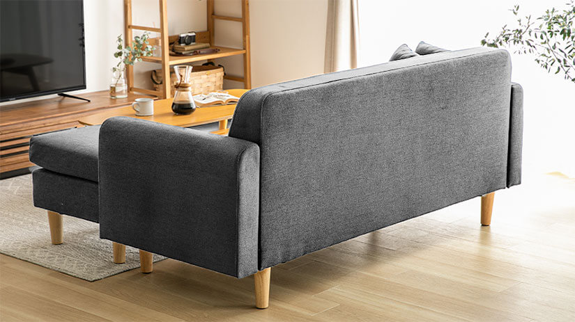 All around upholstery to ensure sofa looks great at any angle.